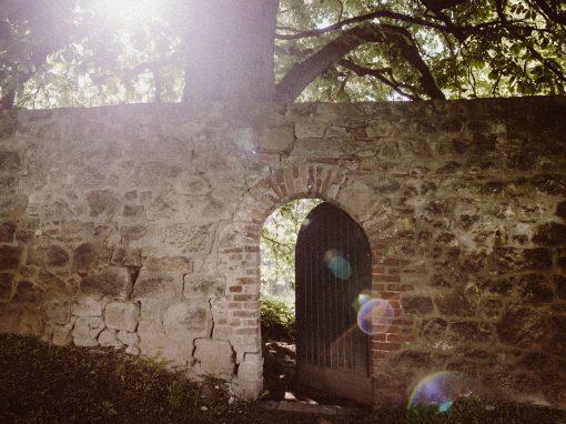 Geheimnisvolle Tür in der Stadtmauer Ballenstedts